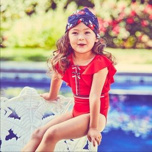 Janie and Jack Flutter Sleeve Swimsuit - NEW